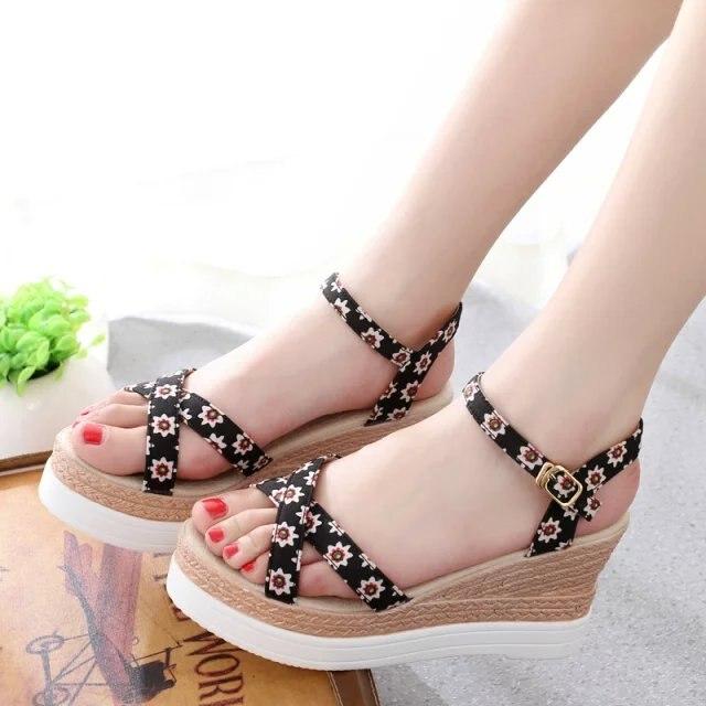 5432fecffc5c New 2015 brand fashion woman shoes platform wedges female sandals platform  comfortable fancy women s open toe high-heeled shoes