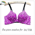 Brand New Fashion One-piece Seamless Underwire Adjusted-Straps bras Push up ladies' Sexy Bras Underwear Cute Bras For Girls