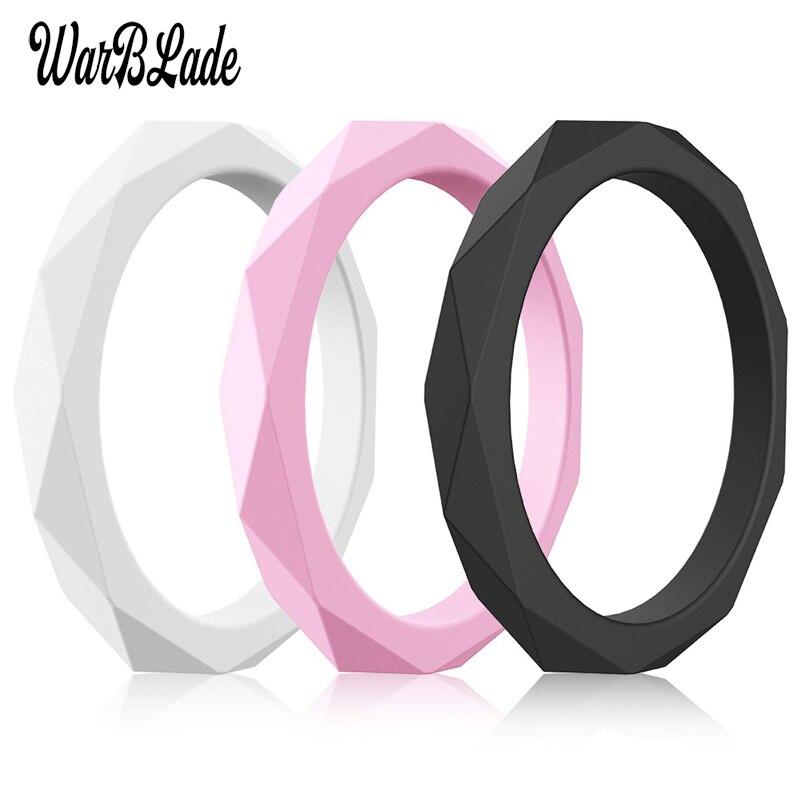 Новинка, 3 мм пищевые силиконовые кольца WarBLade FDA, женские свадебные резинки, гипоаллергенные, Кроссфит, гибкое Силиконовое кольцо на палец