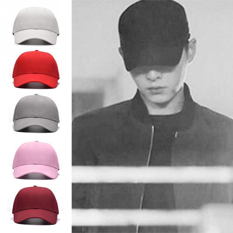 Fashion Black Adult Unisex Casual Solid Adjustable Baseball Caps Snapback Hats for Men Baseball Cap Women Men White Baseball Cap