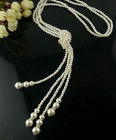 Free Shipping >>>>>6MM 50 Fashion shell pearls multilayer charms necklaces