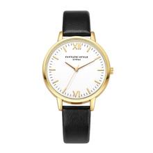 Top Brand LVPAI Relojes Geneva Retro Design Casual Faux Leather Analog Alloy Quartz Wrist Watch crystal bracelet Relojes Mujer