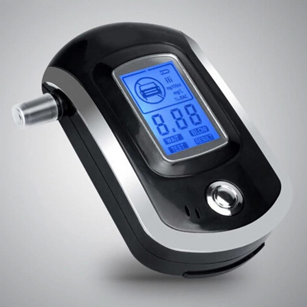 ALC Smart Breath Alcohol Tester Digital LCD Breathalyzer Analyzer AT6000 Alcohol Gas Analyzers
