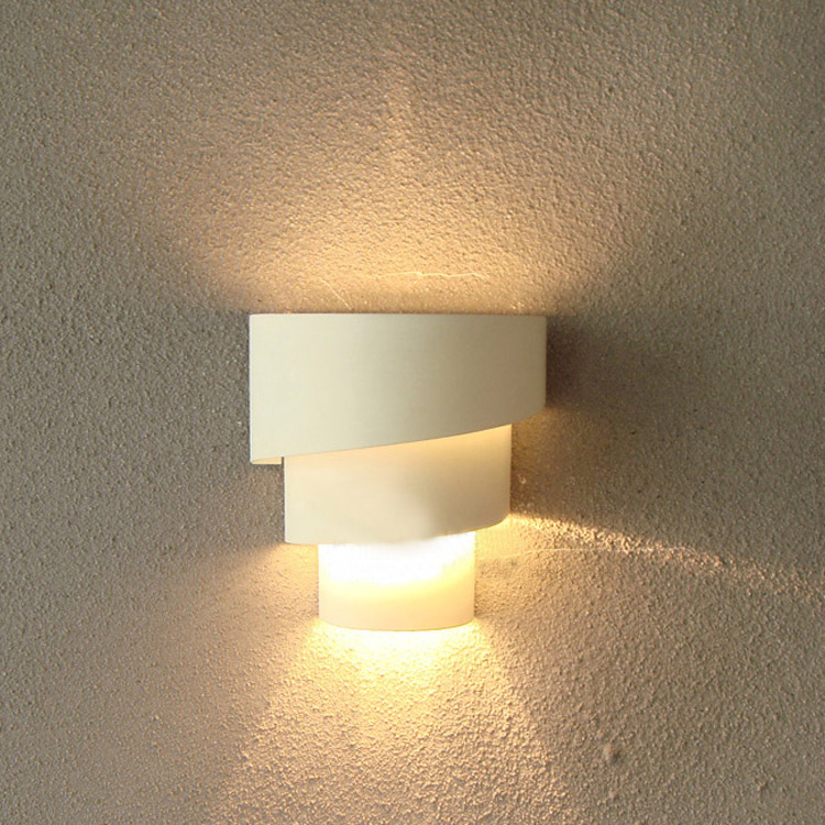 Modern Fashion Indoor White Wall Lamps Bedroom Bedside Curved White Wall Sconce Lighting Lamp Living Room
