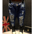 2016 Children Broken Hole Pants Trousers Baby Boys Girls Jeans Brand Fashion spring autumn 2-7Yrs KidsTrousers Children Clothing