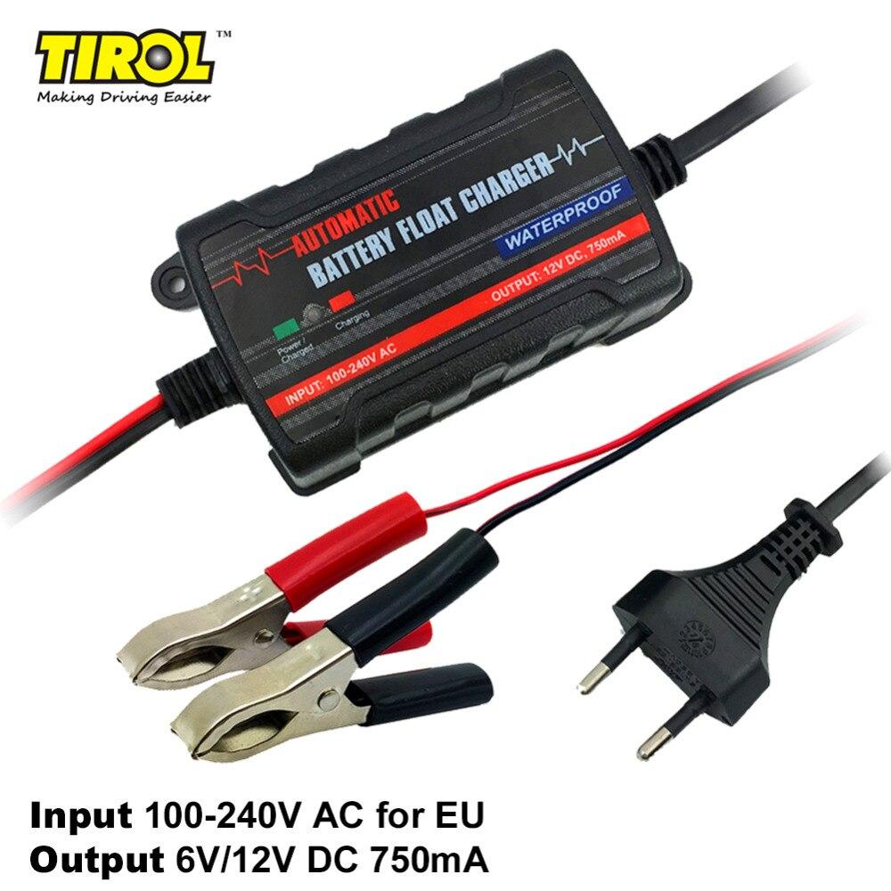 TIROL 6 V 12 V Automatique Chargeur de Batterie De Voiture Responsable Lead Responsable pour moto Camion SUV UE Plug Livraison Gratuite