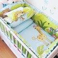 Jogo de Cama confortável Bebê, Animal Do Bebê Listras Cama, Conjuntos de Cama Recém-nascidos Respirável, Criança Berço Da Cama Conjunto para Berço Bumper