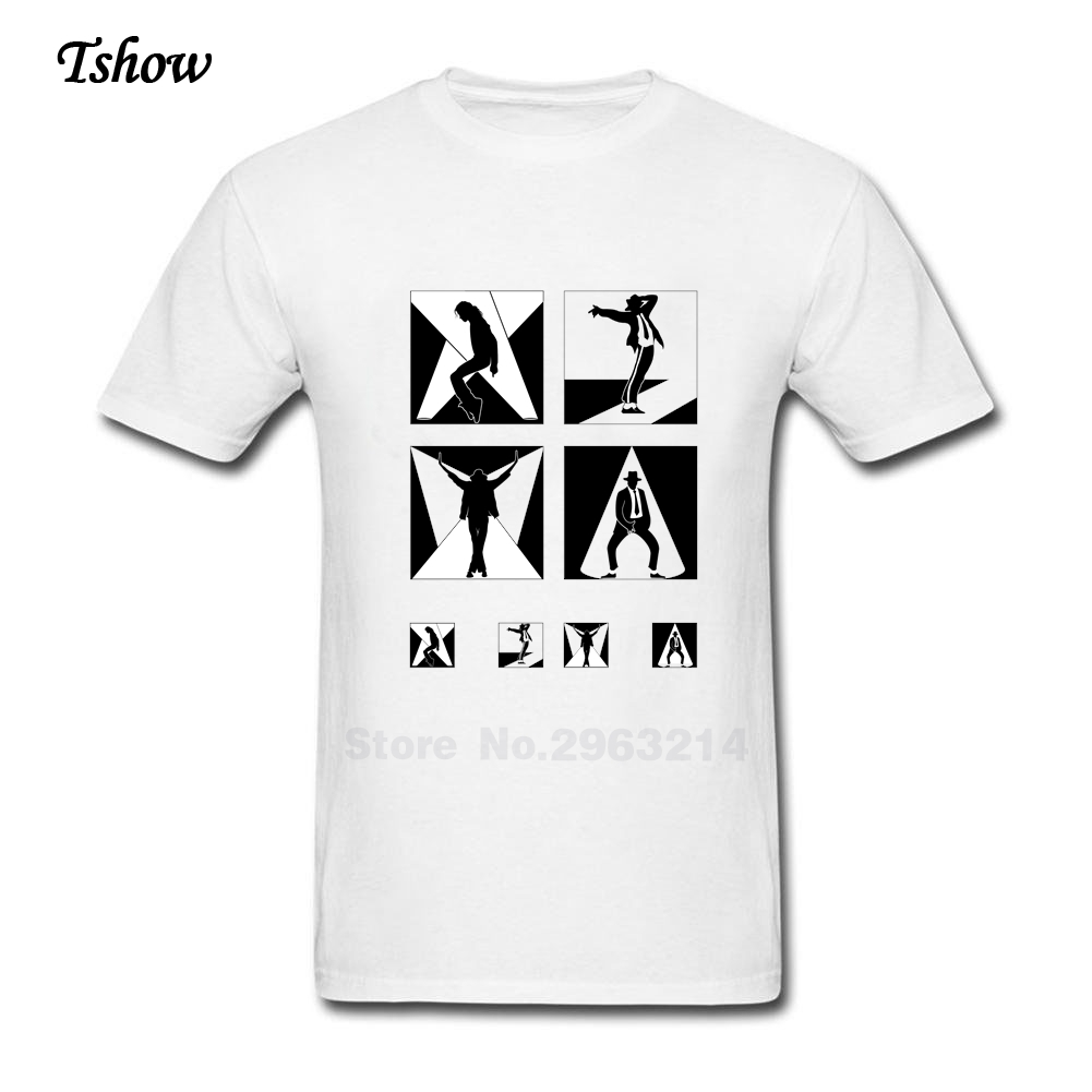 Black t shirt michaels - Michael Jackson T Shirt Men Casual Summer Print Cotton Man S Clothes Round Neck Short Sleeve 2017