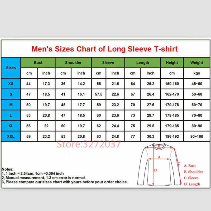 2018 Hot Koop fashion Custom 1N23456 jonge man crew hals lange mouw T-shirt 1 N 2 3 4 5 6 comfortabele Alle Katoen Tees