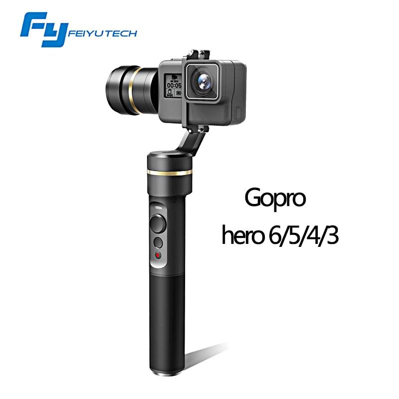 Feiyu FY G5 Handheld gopro gimbal 3 Axis stabilizer steadicam for GoPro HERO5 4k SJ Action