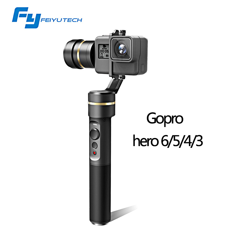 Feiyu FeiyuTech FY G5 Handheld gopro gimbal 3-Axis stabilizer steadicam for GoPro HERO5 4k SJ Action Camera Splashproof Humaniz walkera g 2d camera gimbal for ilook ilook gopro 3 plastic version