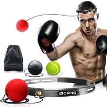 Боксерская рефлекторная скорость боксерская груша MMA Санда боксер поднятие реакции силы ручной глаз Тренировочный Набор стресс бокс Exercise тайские упражнения