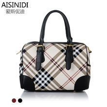 2015 new fashion handbags handbag ladies classic plaid tartan satchel factory direct wholesale