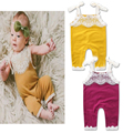 2017 new Autumn and Spring Lovely fashion lace 1 piece children overalls 0-2 year baby pants baby girl pants baby girl pants