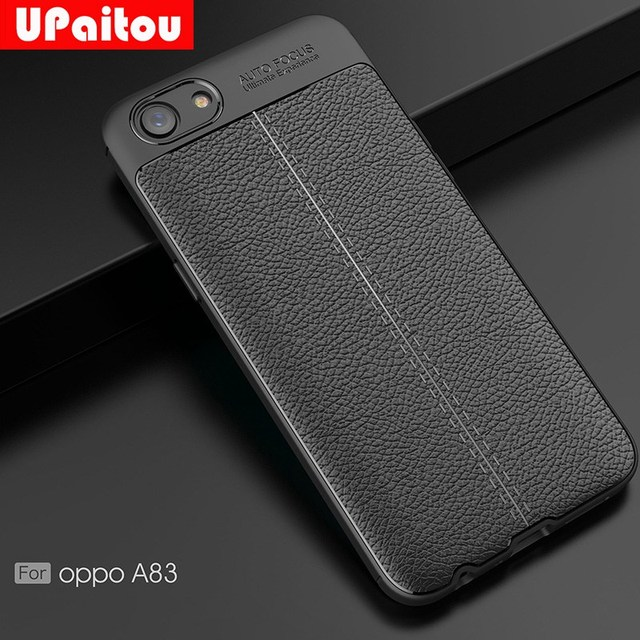 huge selection of a1194 32a22 US $2.99 25% OFF|UPaitou Soft TPU Case for OPPO A83 Back Case Leather  Texture Silicone Cover for OPPO A83 Case Full Cover-in Fitted Cases from ...