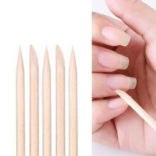 100pcs/pack  Nail Art Design Orange Wood Stick Cuticle Pusher Remover Manicure Care Tools цены онлайн