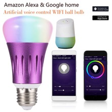 FCMILA LED Smart WiFi Light Bulb Lamp E27 B22 E14 7W RGBW Magic Dimmable  Spotlight for Alexa Google Home