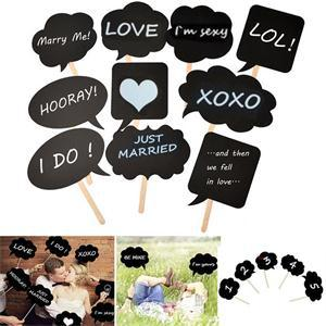 Aliexpress Buy 10PCS Photo Booth Props Chalk Board Decoration Photobooth Birthday Wedding Decorations Event Party Supplies Photocall Para Bodas From