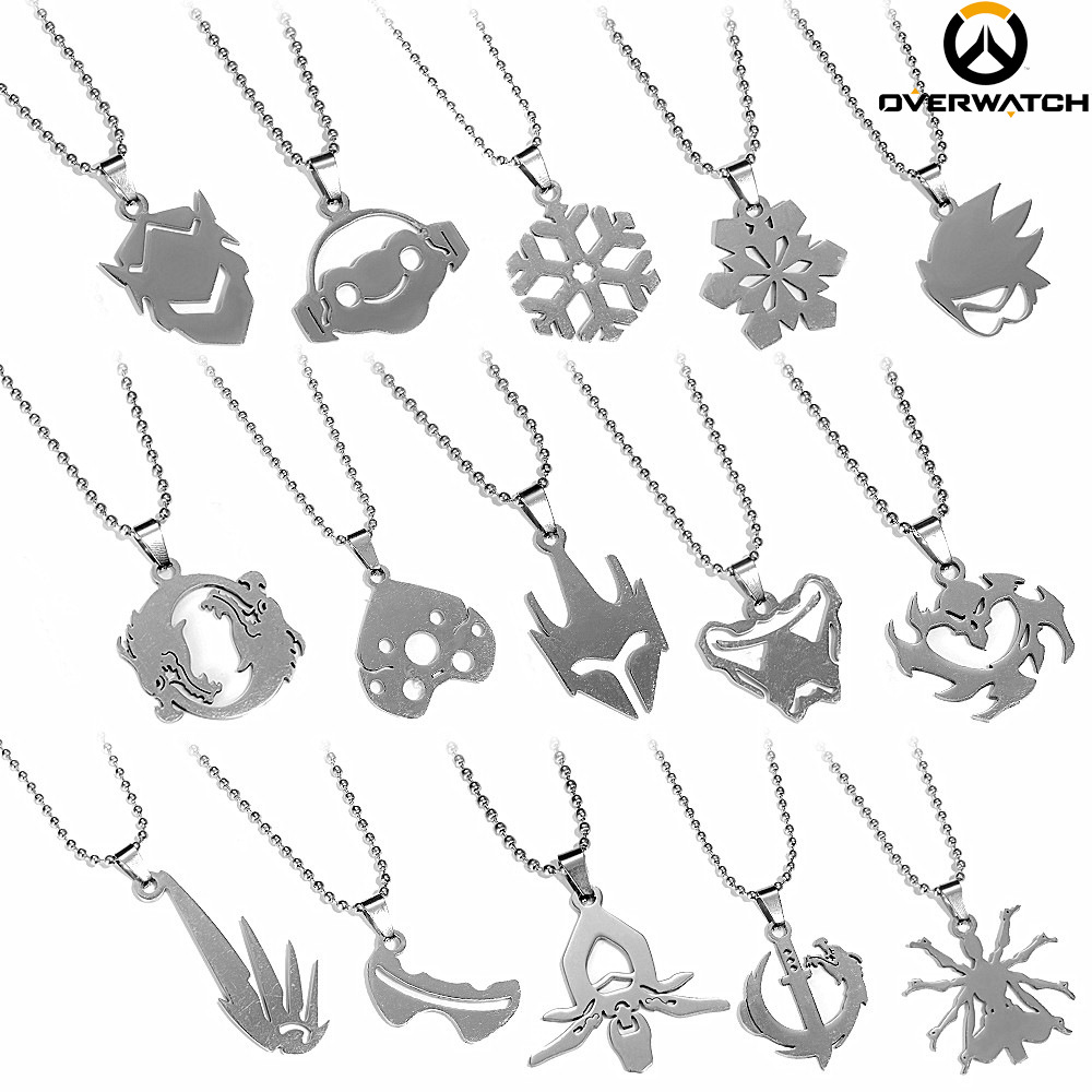 Overwatch Charm Pendant Necklace