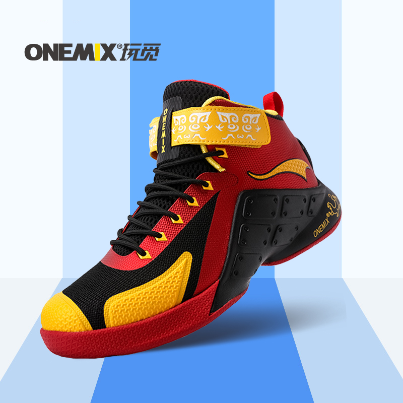 ФОТО ONEMIX new arrival mens top quailty sport shoes 2016 basketball shoes waterproof males athletic Shoes wholesale US7-12
