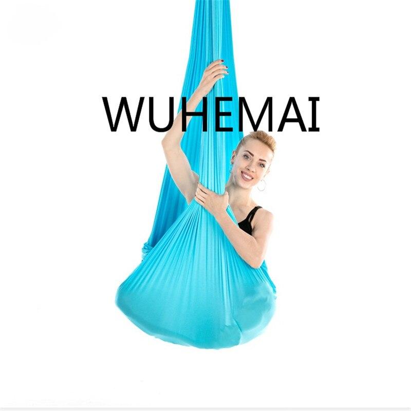 Wuhemai vol Anti-gravité yoga hamac balançoire tissu dispositif de Traction aérienne la ceinture de yoga professionnelle de la salle de yoga élastique - 5