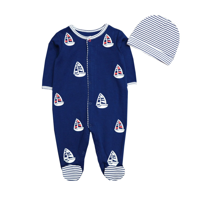 Beautiful New 2019 Cute Baby Clothes With Baby Cap Comfortable Clothing Long Sleeve 100%cotton Newborn Girls Boys Rompers