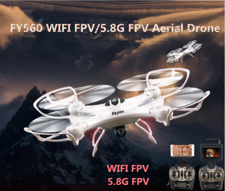 Hot Profissional RC Racing Drone FY560 Headless Mode One Key Return WIFI FPV/5.8G FPV Monitor RC Quadcopter with 2.0MP camera jxd 509w wifi fpv rc quadcopter rtf 2 4ghz with camera headless mode one key return christmas gift jxd 509 wifi version