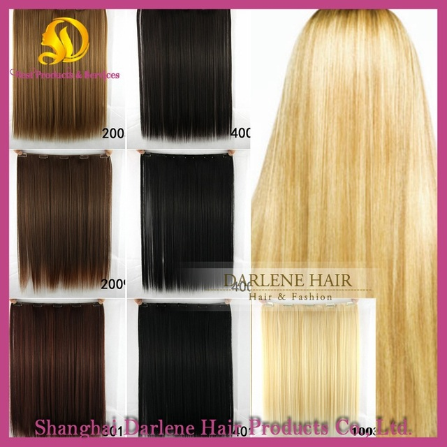 Aliexpress Buy 20inch 52cm Clip In Hair Extensions Straight 8