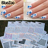 New 50 Sheets Mix Design Color Nail Art Sticker French Flowers Decal Beauty Tips Makeup Accessories