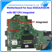 Laptop Mainboard K56CA Top Quality For Asus K56CM Rev2.0 GM Motherboard with 987 CPU Integrated MB 100% Working