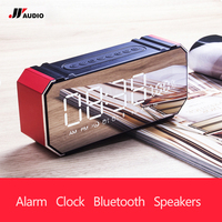 JY Audio F1 Portable Mini Bluetooth Speakers Smart LCD Screen Alarm Clock Radio FM Receiver Wireless