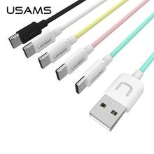 USAMS 100 СМ Типа С USB Синхронизации Данных Быстрая Зарядка USB Type C Кабель Для Samsung S8 Плюс LG V20 OnePlus 2/3 Meizu MX6 Pro 6 ZUK Z1/Z2