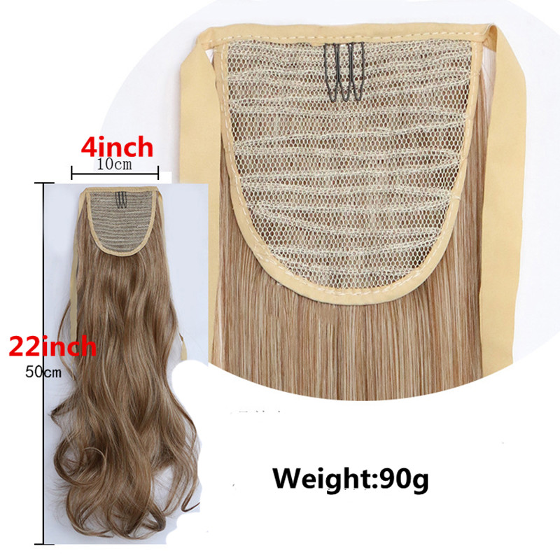 Feibin Tie on Ponytail Hair Extension Tail Hairpiece Long Straight Synthetic Women 39 s Hair 24inches B42 in Synthetic Ponytails from Hair Extensions amp Wigs