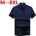 2016 новое прибытие хлопка с коротким рукавом клетчатой рубашке мужской супер большой моды высокое качество лето плюс размер 4XL 5XL 6XL 7XL 8XL