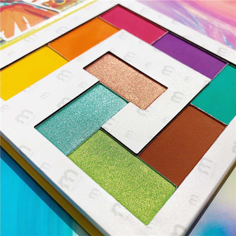 Makeup Beauty 9 Color Glitter Eyeshadow Powder Palette Party Palette Shimmer Matte Eyeshadow Pallete Pigmented Metallic Cosmetic in Eye Shadow from Beauty Health