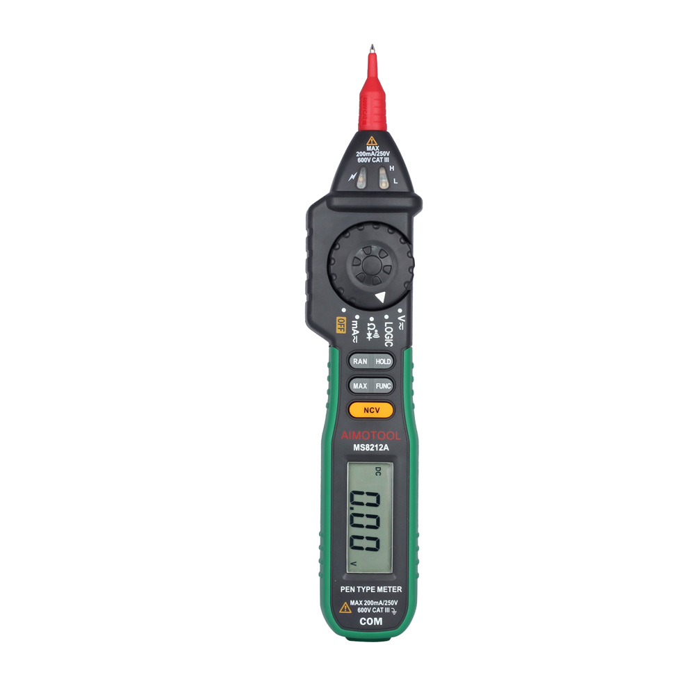 MASTECH MS8212A Pen Digital Multimeter/multimetros Voltage Current Tester Diode Continuity multitester medidor dijital multimetr mastech ms8360f auto range digital multimeter dmm frequency capacitor ncv hfe tester comprobadores multimetros upgraded ms8260f