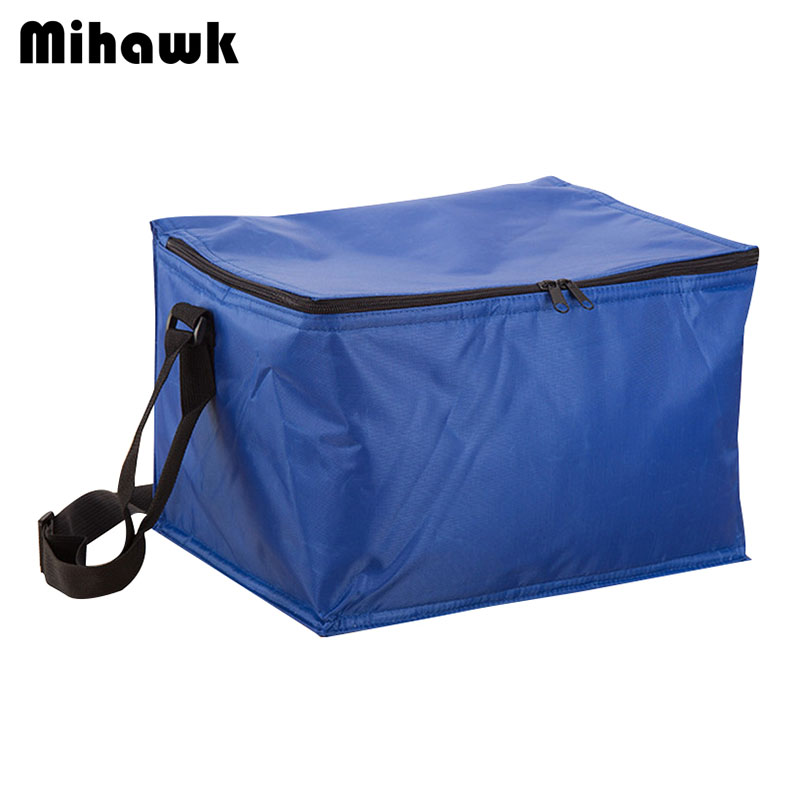 Mihawk 20L Solid Thermal Insulated Cooler Bag Extra Large Picnic Lunch Bag Box Trips BBQ Ice Pack Accessories Supplies Products 20l extra large camouflage cooler bags thermal insulated picnic bag box travel picnic food storage accessories supplies products