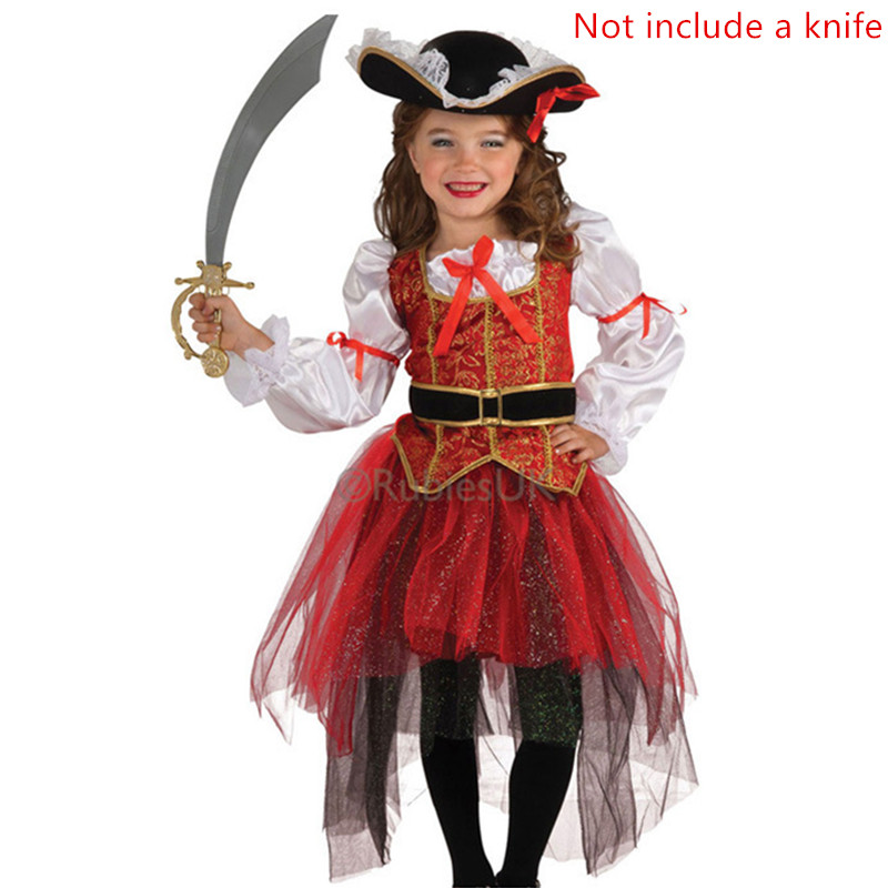 cosplay Carnival clothing set dress Halloween Christmas pirate costumes girls party cosplay costume for children kids clothes