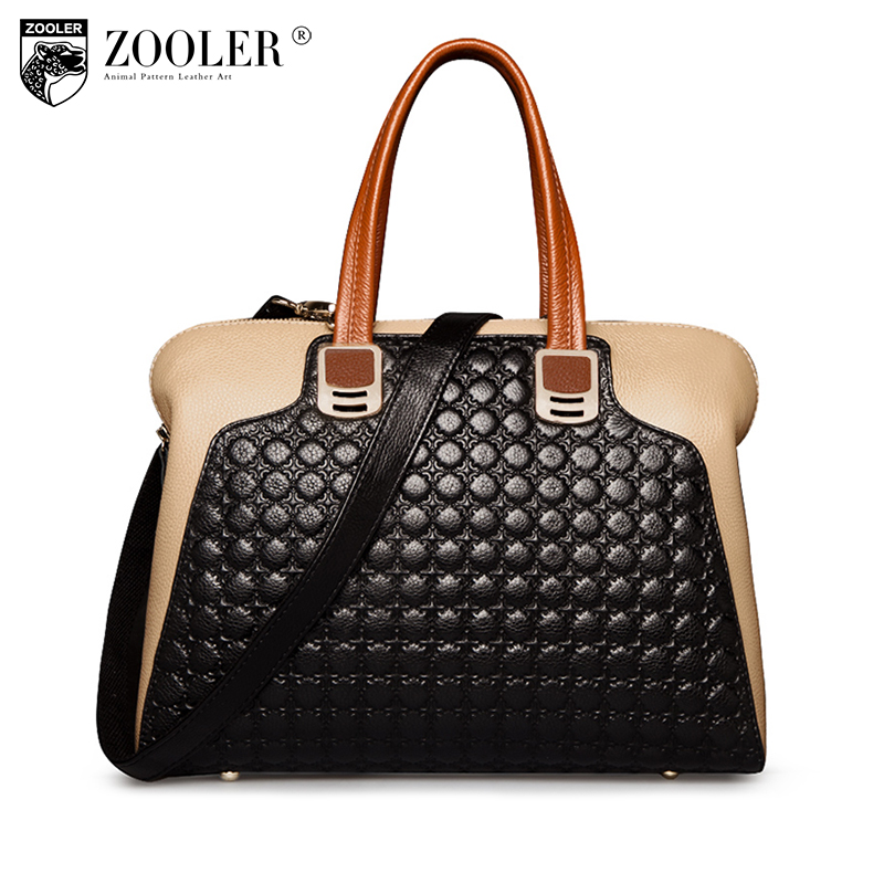 ZOOLER Women Genuine Leather bag Handbags OL Style Shoulder bag for women Large Tote luxury leather messenger handbags #2586