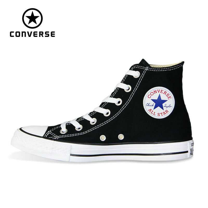 new Original Converse all star shoes men's and women high classic sneakers Skateboarding Shoes white black color 101010(China)