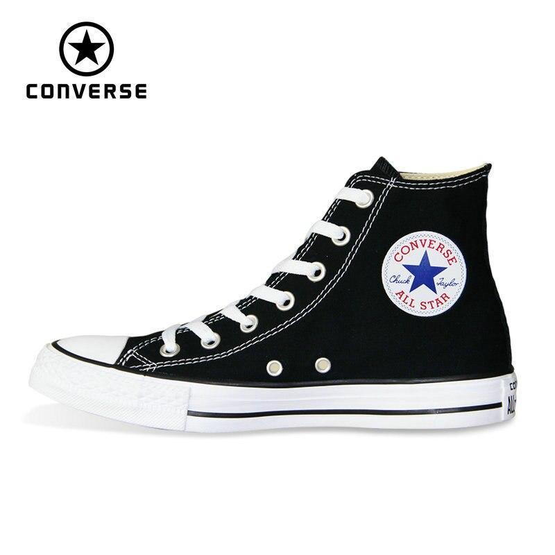 Nouveau Original Converse all star chaussures hommes et femmes haute classique baskets chaussures de skate blanc noir couleur 101010