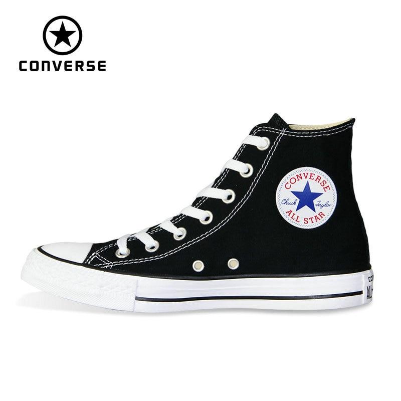 Nova Originais Converse all star sapatos para homens e mulheres altas tênis clássicos Sapatos de Skate branco cor preta 101010