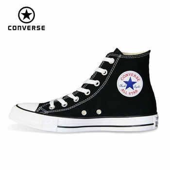 new Original Converse all star shoes men's and women high classic sneakers Skateboarding Shoes white black color 101010 - DISCOUNT ITEM  52% OFF All Category