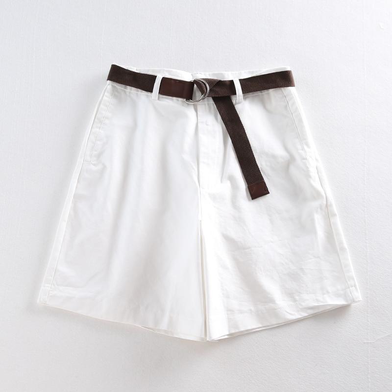 Casual Women Shorts A-line High Waist Slim Summer Shorts 30