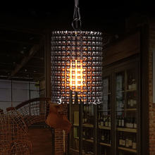 Retro Single Head Bicycle Chain Pendant Light Wall Control Chain LED Lighting Lamp Indoor Decorative Light Restaurant Lamps(China)