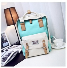 New Fashion Vintage panelled Women Designer Canvas Backpacks School Bags for Teenagers Girls Large Capacity Laptop Travel bag