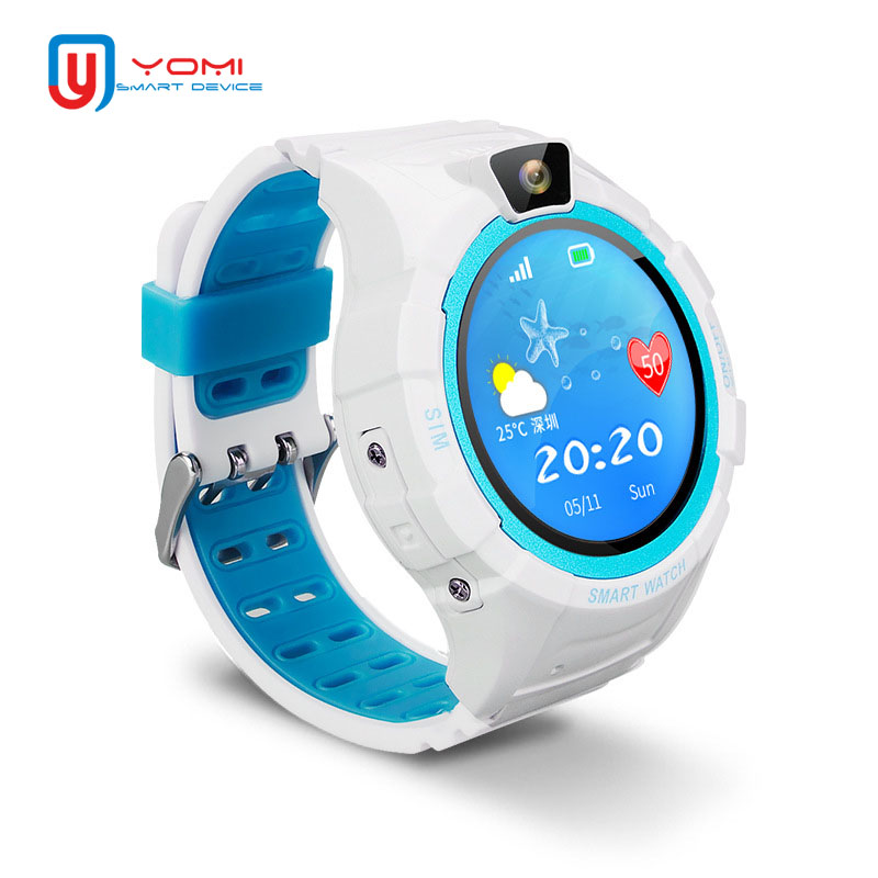2018 GPS Smart Watch IOS Android Round Touch Screen GPS Tracker SOS Call Remote Camera Anti-Lost Smart Wristwatch for Baby Kids