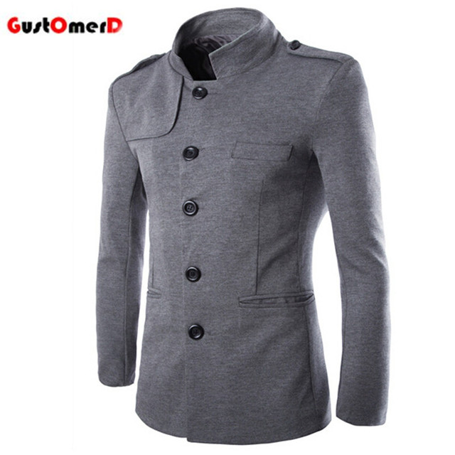 2016 Hot Sale New Spring Simple Retro Fashion Chinese Tunic Men's Jackets Coats Slim Multi-pocket Men Jacket Casaco Masculino