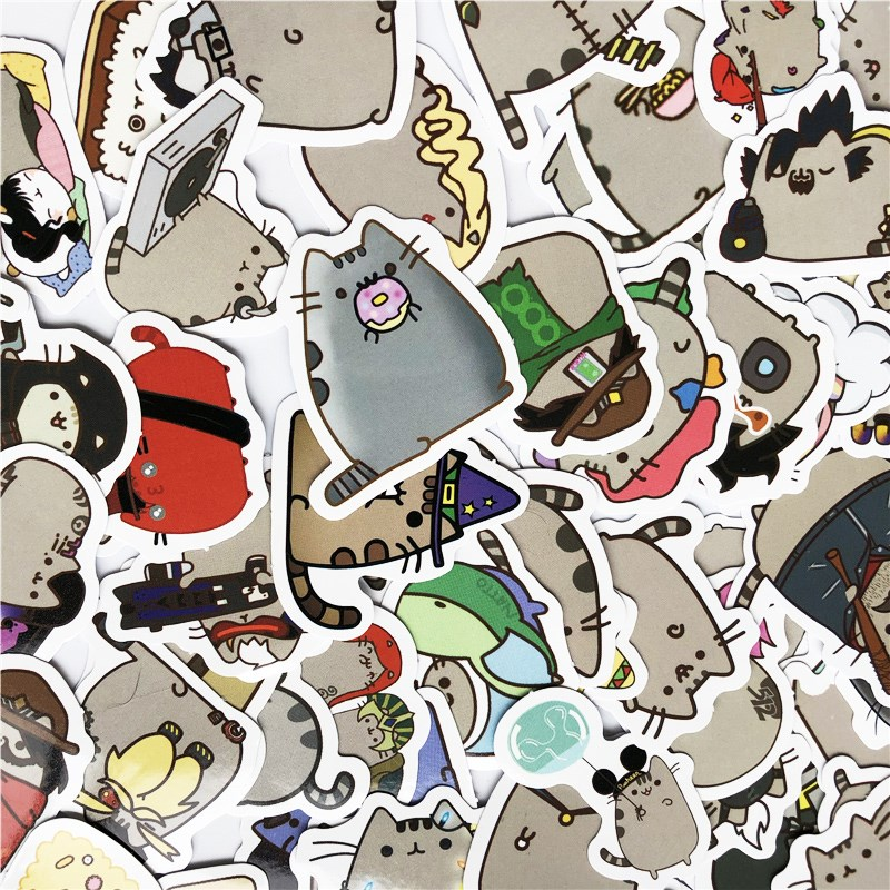 100 Styles/Pack Trendy Cute Fat Cat Sticker Scrapbooking Stickers For Diary Album Decoration Adhesive Stickers Diy Paper Sticker