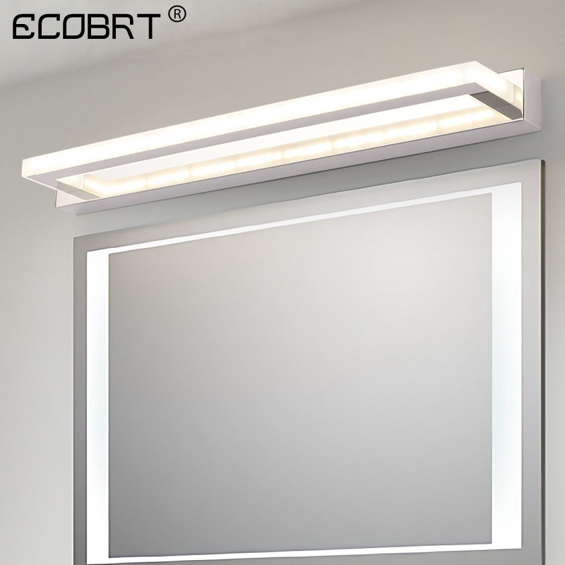 ECOBRT Modern LED Bathroom Mirror Light 9W 42CM Stainless steel Acrylic Wall Lamp 85-240VACECOBRT Modern LED Bathroom Mirror Light 9W 42CM Stainless steel Acrylic Wall Lamp 85-240VAC
